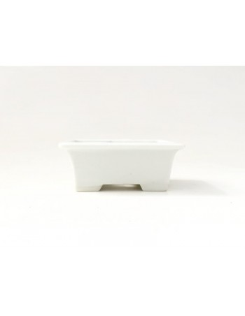 Tiesto rectangular 8.5 cm blanco Seto para bonsai